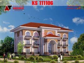 Thiết kế khách sạn mini 3 tầng tiêu chuẩn 2 sao KS111106