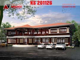 Thiết kế nhà hàng lẩu nướng không khói kiểu nhật bản KS201126