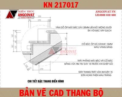 Bản vẽ cad thiết kế tính toán chi tiết cầu thang bộ KN217017