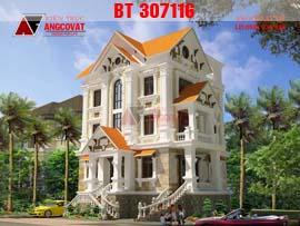 Bản vẽ thiết kế lâu đài kiểu pháp đẹp BT307116