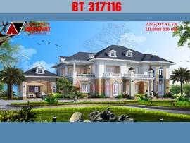Thiết kế dinh thự đẹp phong cách tân cổ điển châu âu BT317116