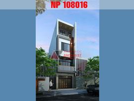 Thiết kế nhà phố 4 tầng hiện đại mặt tiền 6m NP108016