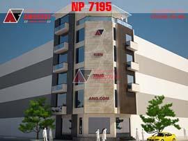 Bản vẽ nhà phố 7m 5 tầng đẹp NP7195