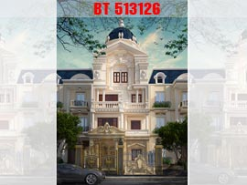 Thiết kế nhà phố kiểu Pháp cổ điển 5 tầng 160m2 NP513126