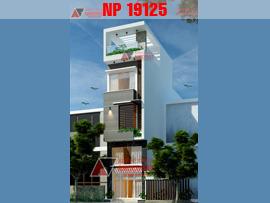 Mẫu thiết kế nhà ống mặt tiền 4m 50m2 4 tầng hiện đại đẹp tại Hà Nội NP19125