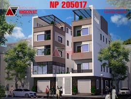Mẫu nhà phố song lập 4 tầng trên mảnh đất xéo (méo) NP205017
