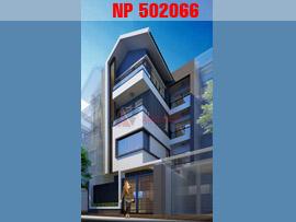 Mẫu thiết kế nhà phố mặt tiền 7m, 4 tầng phong cách hiện đại NP502066