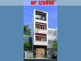 Mẫu thiết kế nhà phố mặt tiền 4.5m 4 tầng, diện tích 50m2 hiện đại NP128046