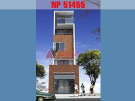 Thiết kế nhà 3.5x12m kiểu nhà phố 4 tầng hiện đại NP51455