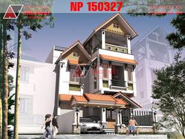 Mẫu thiết kế nhà 8x14m 3 tầng mặt tiền 8m phong cách hiện đại NP150327