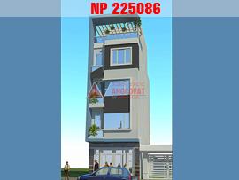 Thiết kế nhà mặt tiền 5 m dài 8m  5 tầng hiện đại ở Hải Phòng