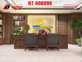 Phương án tư vấn mẫu thiết kế phòng làm việc bằng gỗ tự nhiên NT606098
