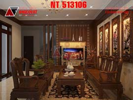 Thiết kế nội thất cho căn nhà màu trắng kết hợp gỗ tự nhiên NT213106