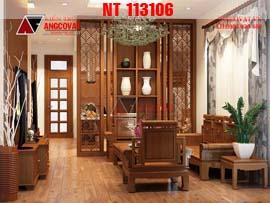 Thiết kế nội thất phòng khách, phòng ăn, phòng ngủ nhà cấp 4 đẹp NT113106