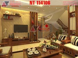 Thiết kế nội thất nhà phố đẹp phong cách hiện đại NT114106