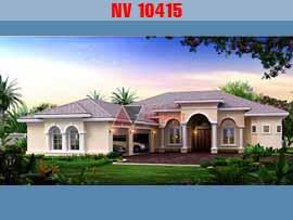 Biệt thự 1 tầng phong cách châu âu 20x18m 3 phòng ngủ kinh phí 1,3 tỷ đồng NV10415
