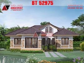 Mẫu nhà 1 tầng 4 phòng ngủ mái thái đẹp BT52975