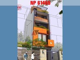 Thiết kế nhà phố 4 tầng 6x15m hiện đại đẹp mê ly NP61455