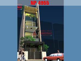 Nhà phố diện tích 70m2 mặt tiền 4m 4 tầng phong cách hiện đại NP4955