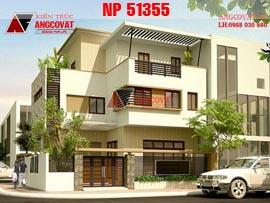 Thiết kế nhà đẹp 9x10m 3 tầng có gara đẹp hiện đại ở Đà Nẵng NP51355