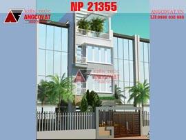 Thiết kế nhà phố 6x15m 4 tầng NP21355