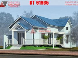 Mẫu biệt thự 1 tầng ở quê diện tích 140m2 3 phòng ngủ mặt tiền 8m BT91965