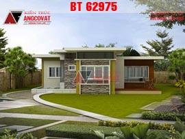 Mẫu nhà 1 tầng mái bằng 3 phòng ngủ kích thước 12x14m kinh phí 700 triệu BT62975
