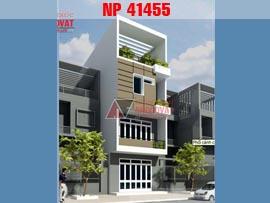 Thiết kế nhà phố 5x12m 4 tầng hiện đại NP41455