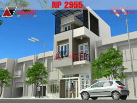 Mẫu thiết kế nhà 3 tầng 40m2 3 phòng ngủ hiện đại ở Nghệ An NP2955