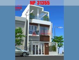 Thiết kế nhà phố 6x13m 3 tầng mái bằng hiện đại ở Quảng Ninh NP31355