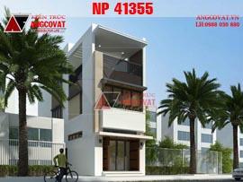 Thiết kế nhà phố 90m2 3 tầng hiện đại ở Hà Giang NP41355