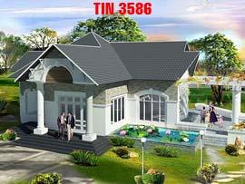 Biệt thự 1 tầng đẹp TIN3586