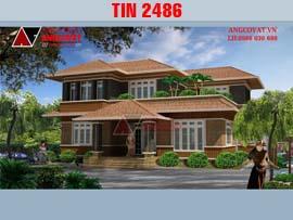10 mẫu thiết kế biệt thự đẹp lung linh TIN2486