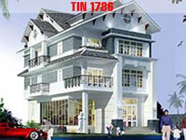 Thiết kế nhà biệt thự 3 tầng TIN1786