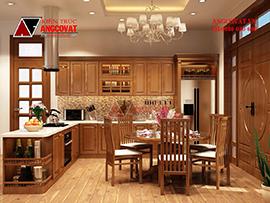 thiết kế phòng bếp 25m2 ấn tượng